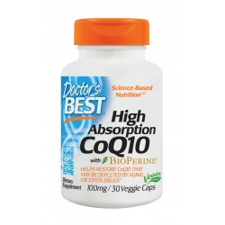 High Absorption CoQ10 (with BioPerine)100mg, 30 caps