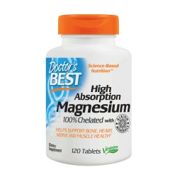 High Absorption Magnesium 100% Chelated 120 tablets