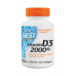 Vitamin D3 2000IU, 180 softgels