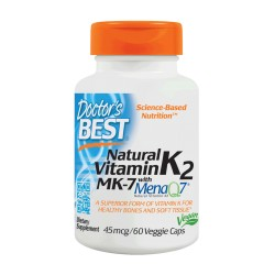 Natural Vitamin K2 (with MK-7) 45mcg, 60 caps