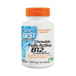 Chewable Fully Active B12 1000mcg, 60 tablets