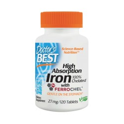 High Absorption Iron 100% Chelated, 27mg, 120 tablets