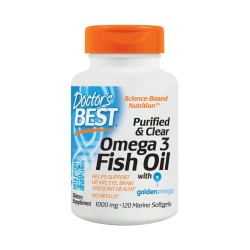 Purified & Clear Omega 3 Fish Oil 1000mg, 120 Tablets