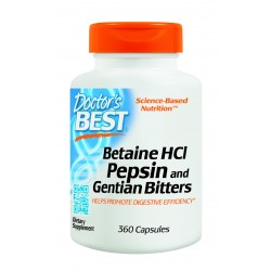 Betaine HCL Pepsin and Gentain Bitters 360Capsules