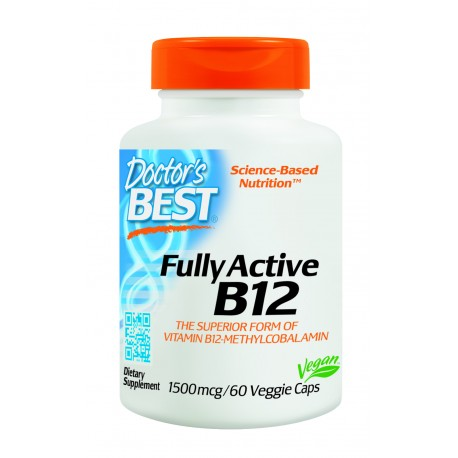 Chewable Fully Active B12 1500mcg, 60 tablets